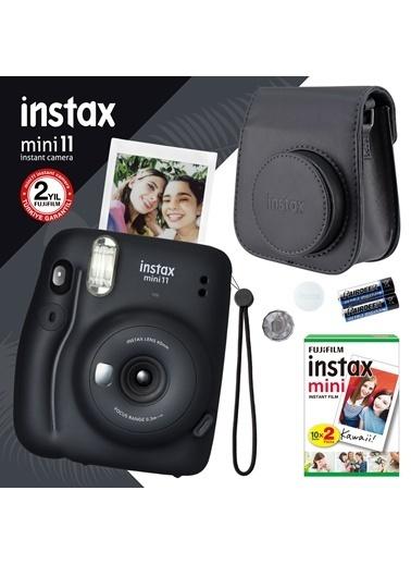 Fujifilm instax mini 11 Siyah Fotoğraf Makinesi ve Hediye Seti 4 Siyah